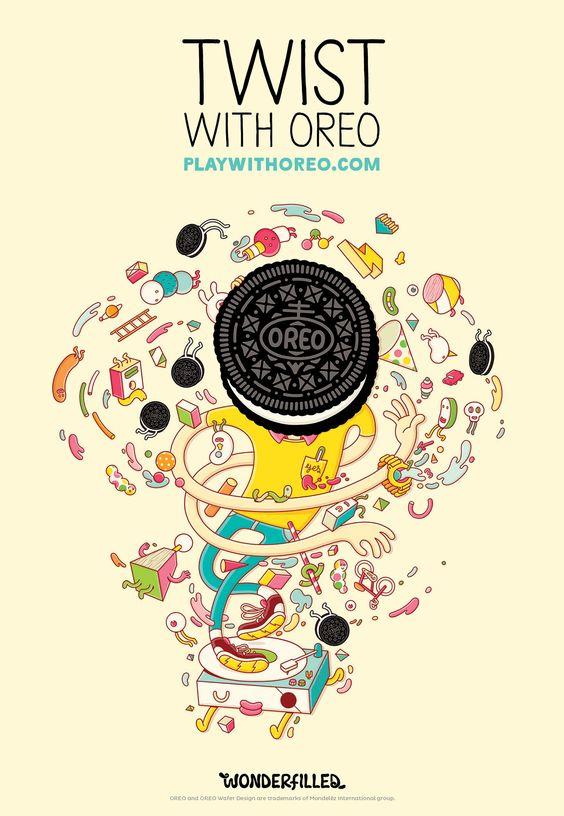 Рекламный плакат Орео
