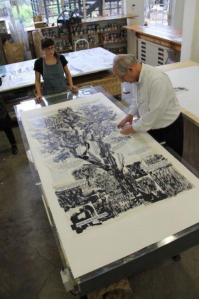 Процесс печати литографии
