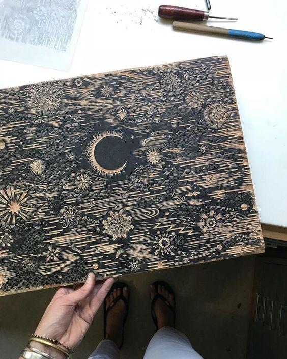 Печать ксилографии