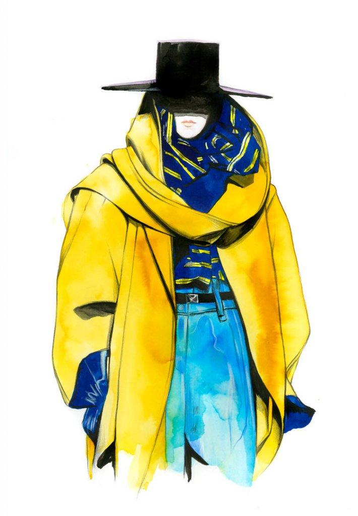 Пример fashion иллюстрации 2