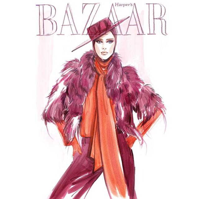 Пример fashion иллюстрации 7
