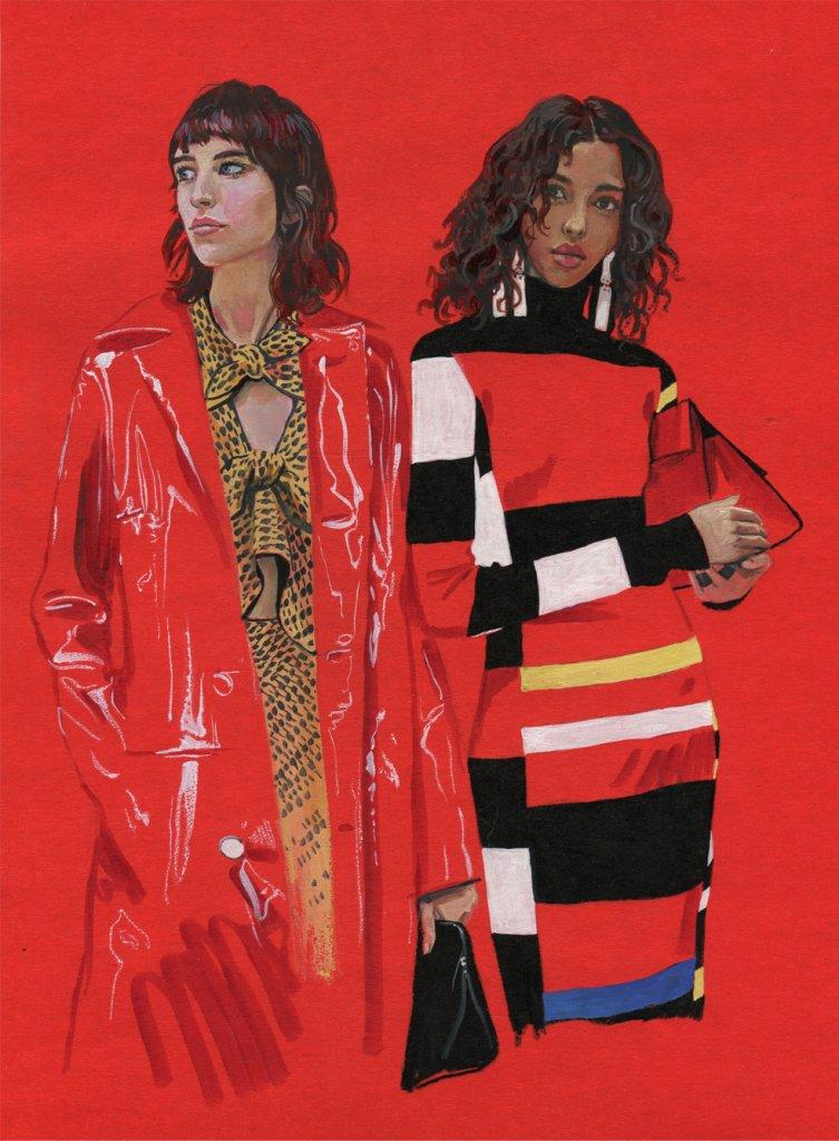 Пример fashion иллюстрации 5