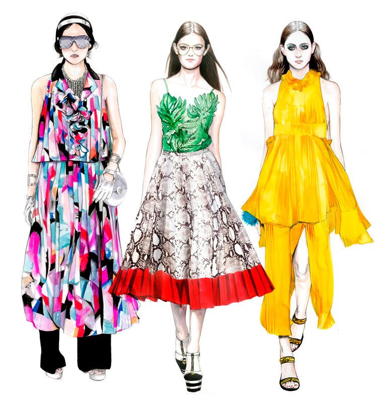 Пример fashion иллюстрации 4