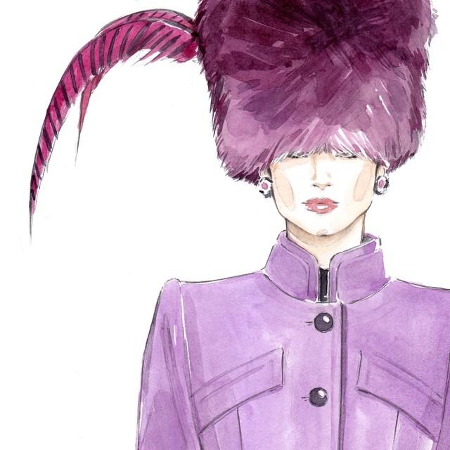 Пример fashion иллюстрации 8