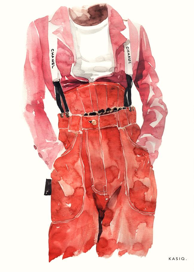 Пример fashion иллюстрации 3