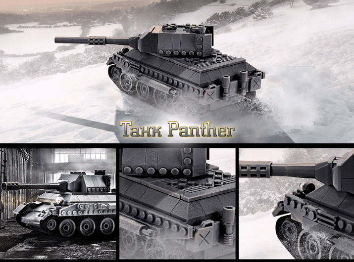 Упаковка игрушечных танков