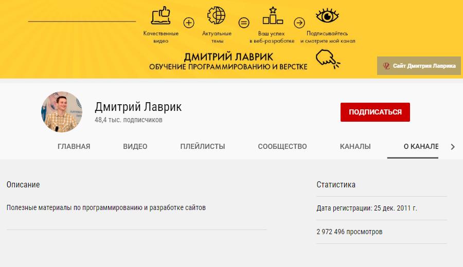 Дмитрий Лаврик PHP