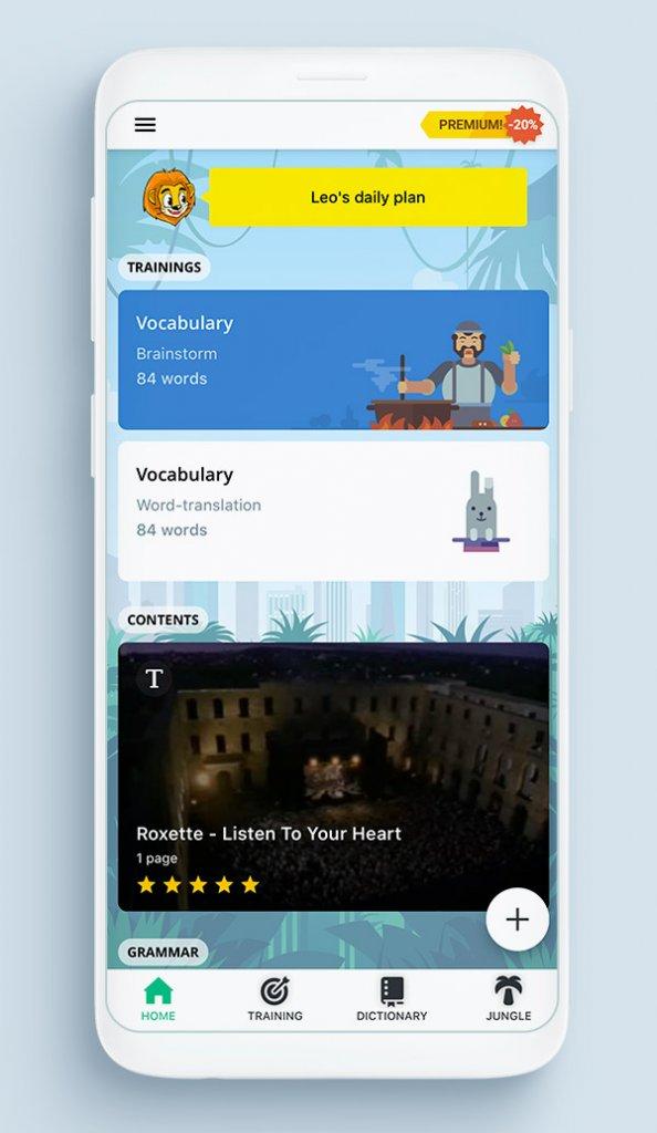 Приложение Lingualeo - английский язык онлайн
