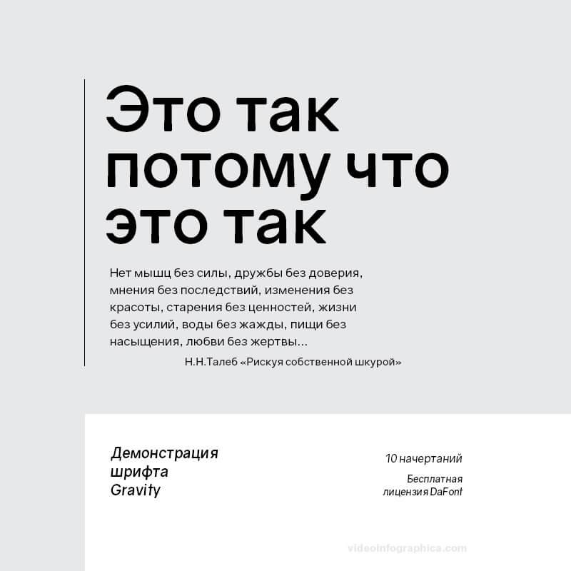 Шрифт Gravity