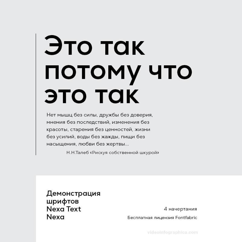 Шрифты Nexa & Nexa Text