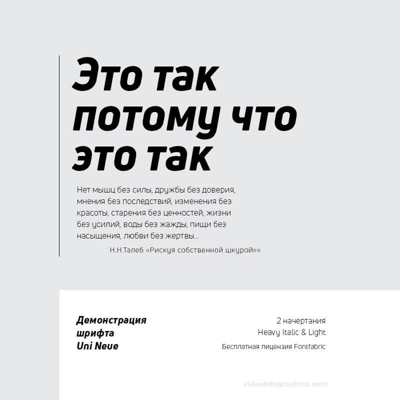 Шрифт Uni Neue