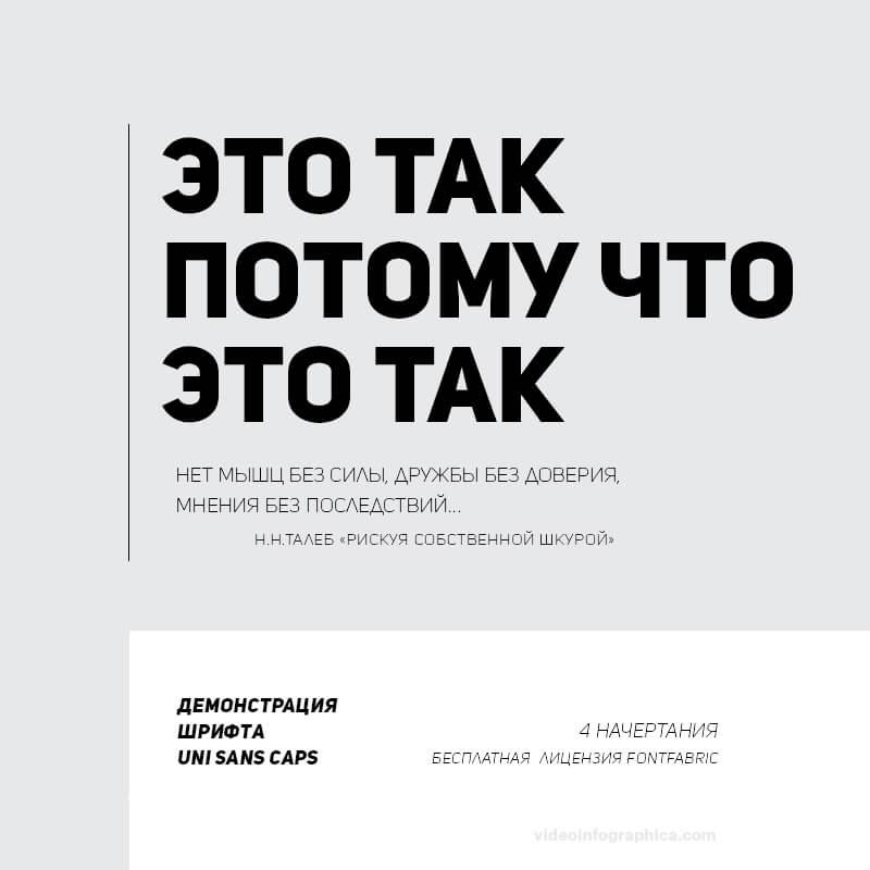 Шрифт Uni Sans CAPS