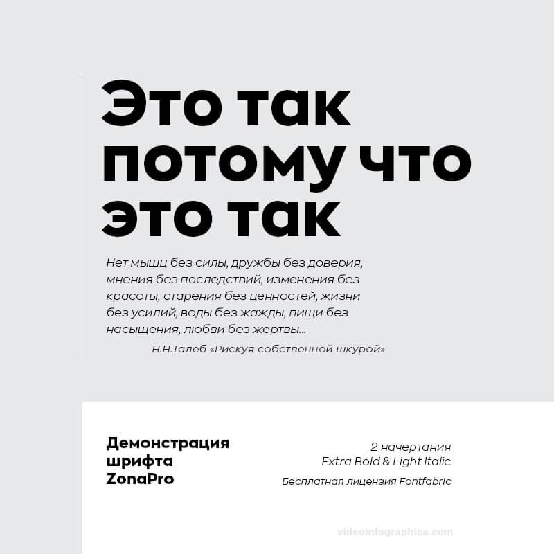 Шрифт Zona Pro