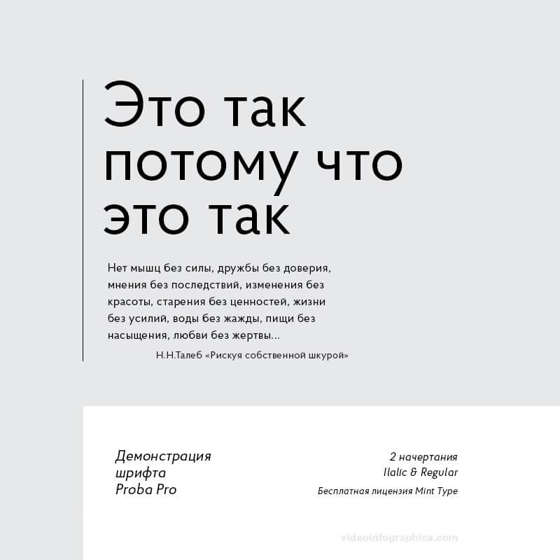 Шрифт Proba Pro