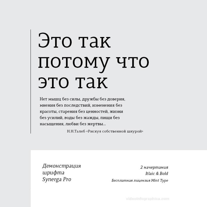 Шрифт Synerga Pro