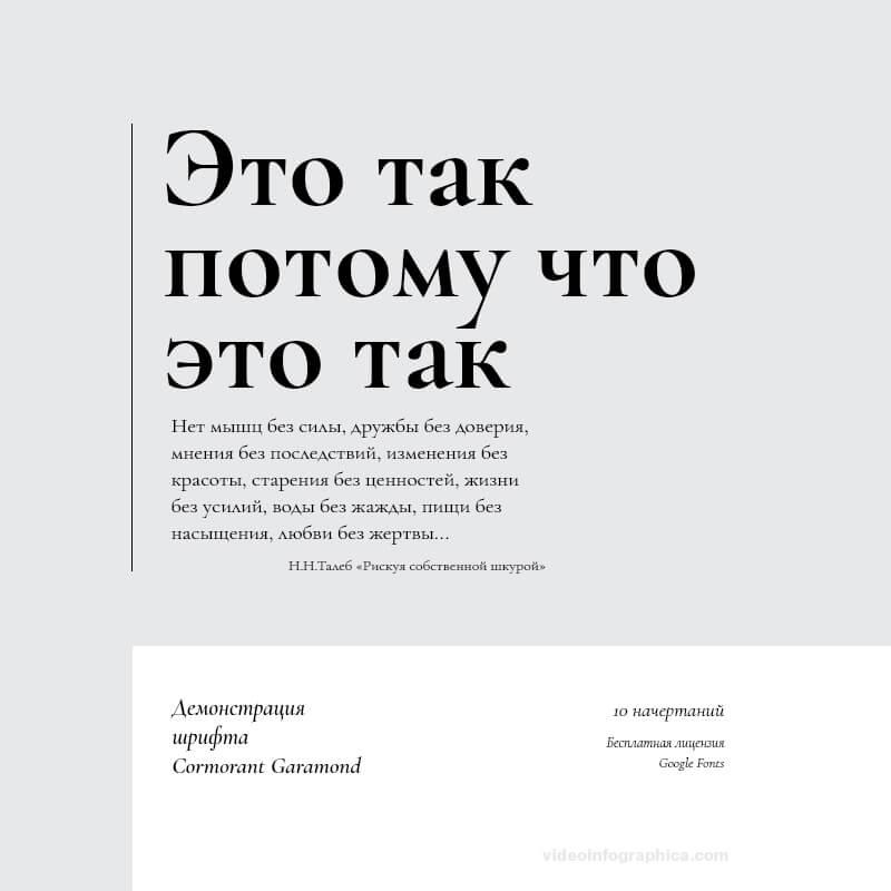 Шрифт Cormorant Garamond