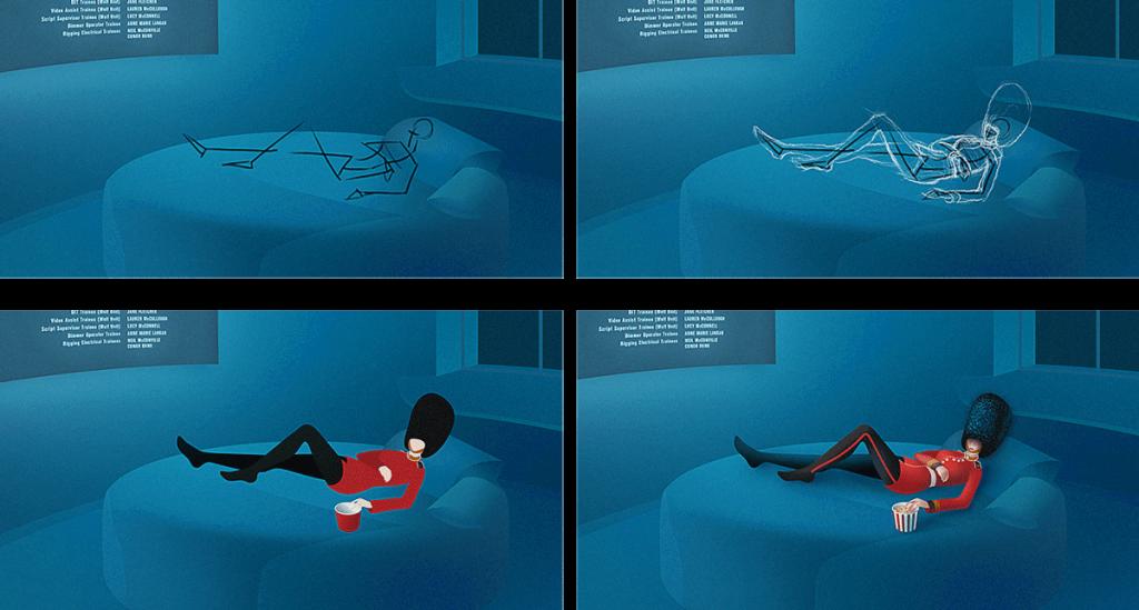 четыре этапа создания иллюстрации: набросок, объём и светотень