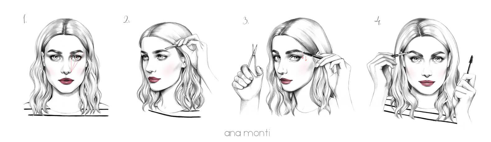 4ре этапа наложения макияжа