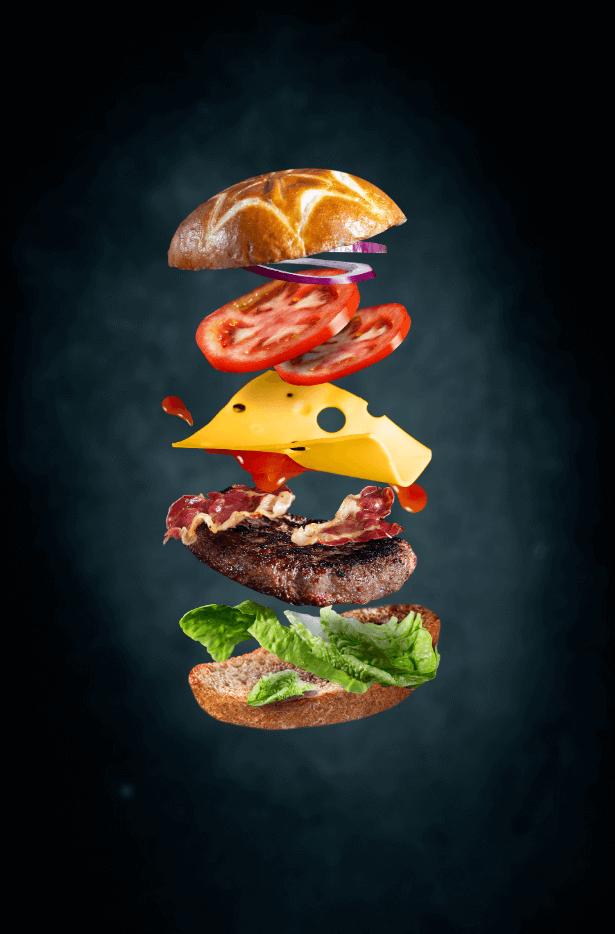 Фуд-фото гамбургер