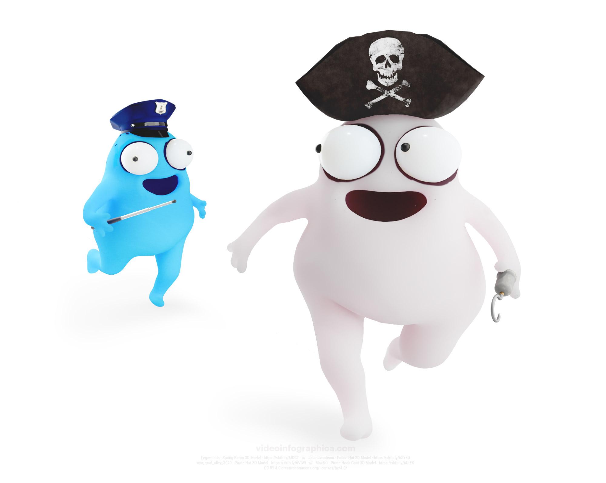Пират убегающий от полиции или почему не стоит использовать Photoshop без лицензии