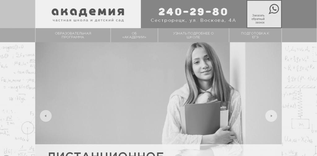 Частное общеобразовательное учреждение «Академия»