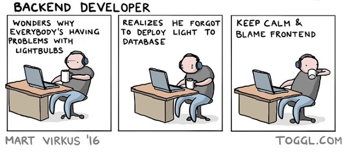 Комикс backend разработчик