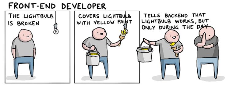 Комикс front-end разработчик