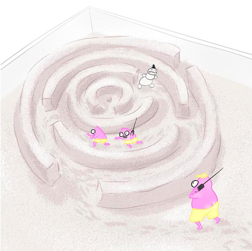 Карикатурное изображение разработчиков игр