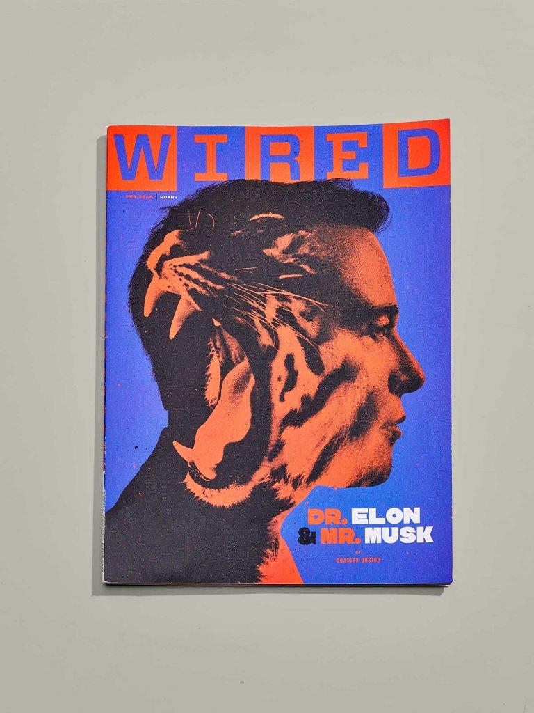 обложка журнала WIRED с Илоном Маском