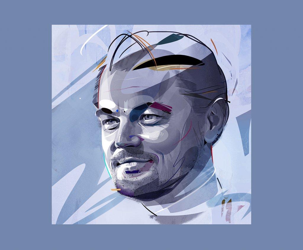портрет Ди Каприо
