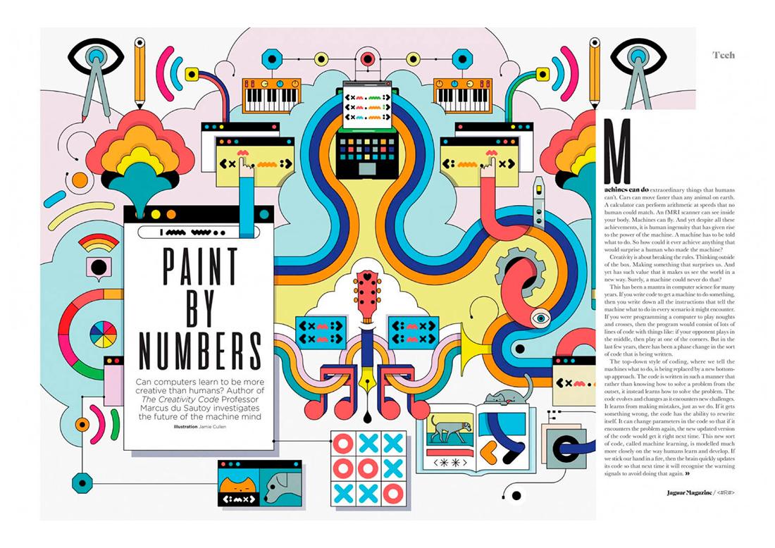 журнальный разворот с абстрактным оформлением