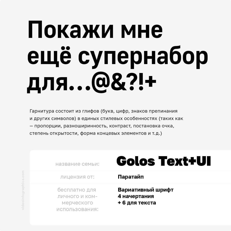 Golos Text, Golos UI