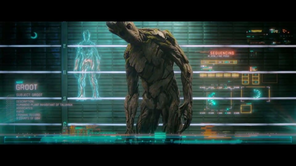 Guardians of The Galaxy UI Reel | Screen Graphics | Territory Studio