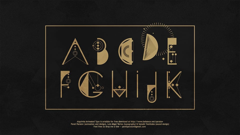 ALQUIMIA Animated Type
