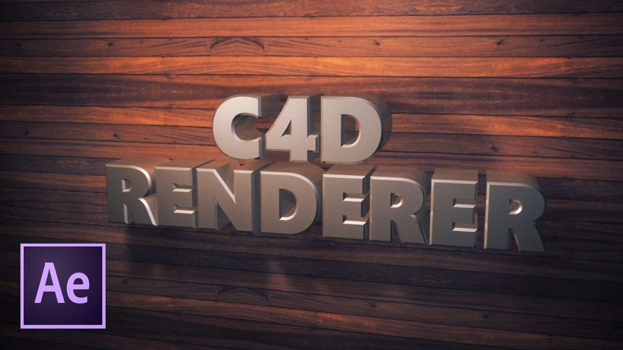 Создание 3D текста в After Effects CC2017 (При помощи нового 3D рендерера).