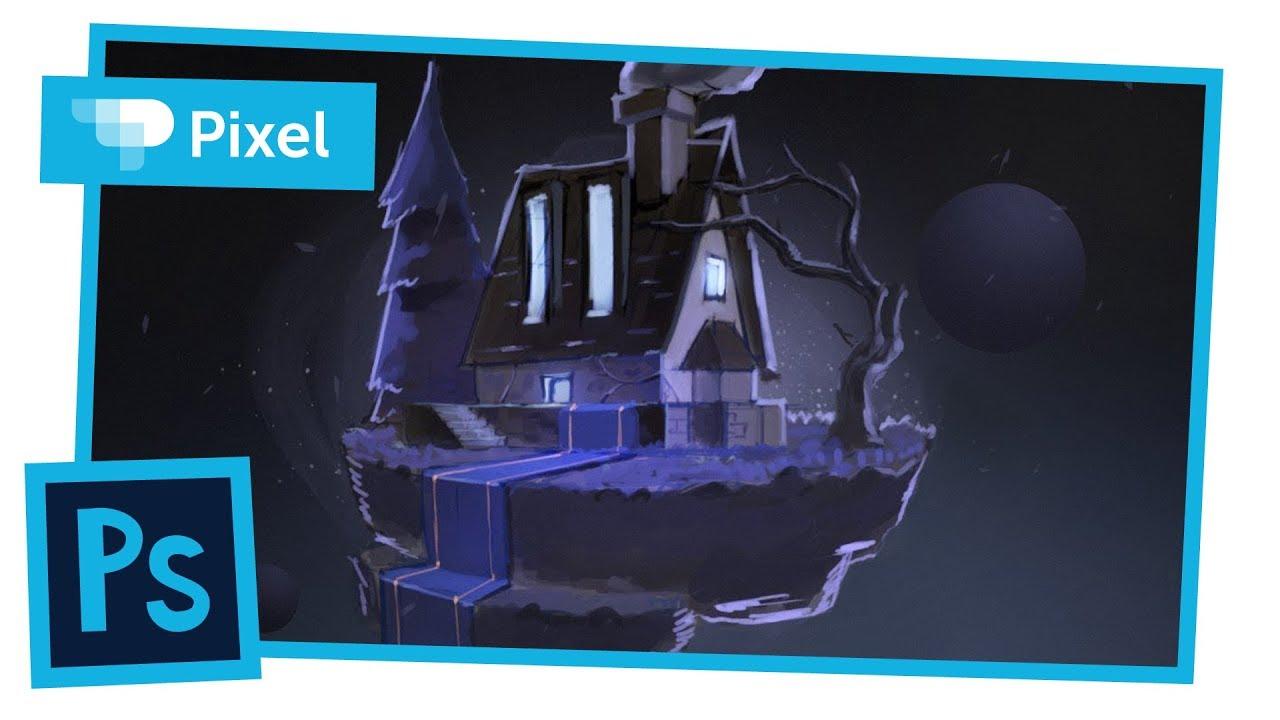 Рисуем сказочный дом в Adobe Photoshop | локация