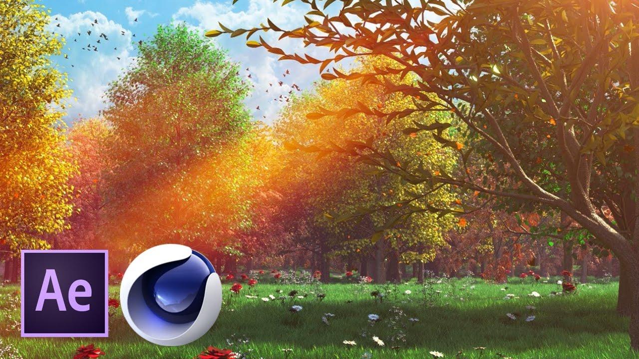 Сказочный лес в Cinema 4D и After Effects. Часть 3 из 4