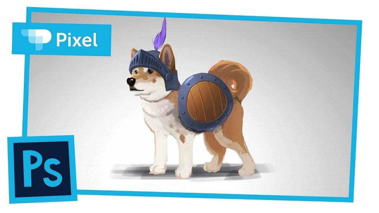Рисуем собаку-рыцаря в Adobe Photoshop