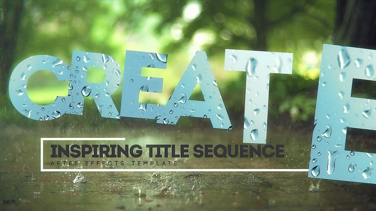 Inspiring Title Sequence [FREE After Effects Template]