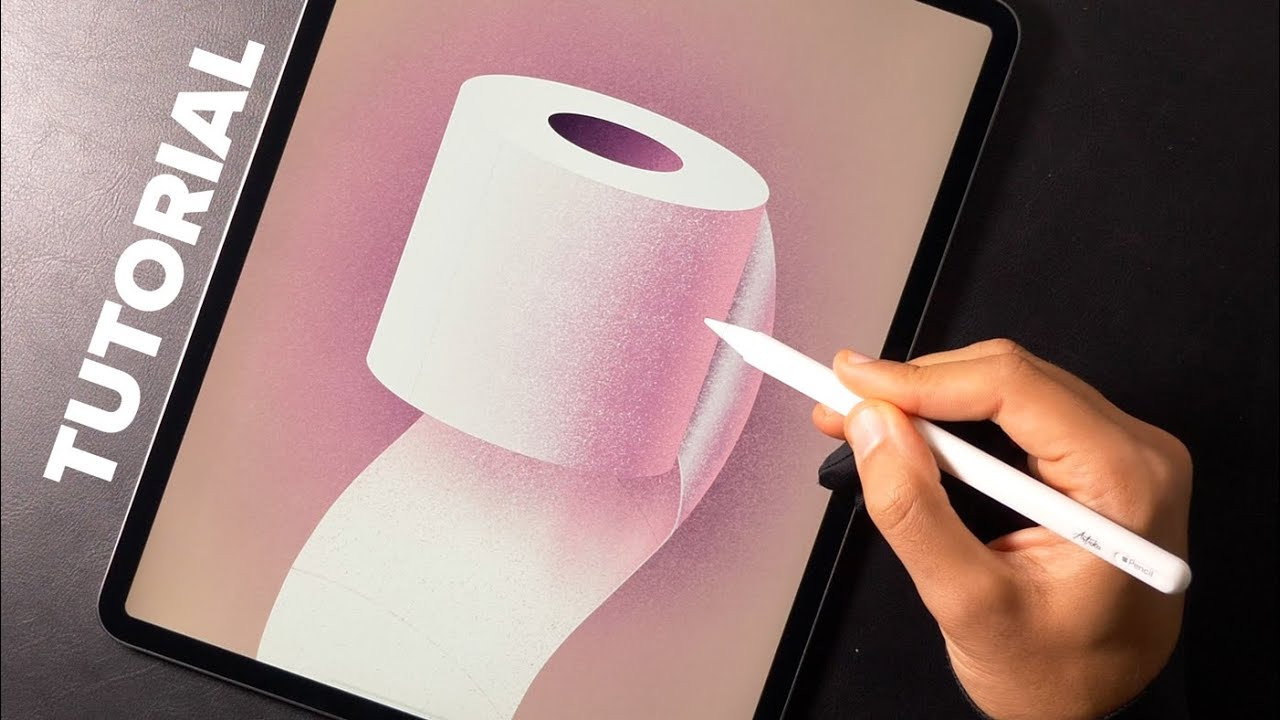 Drawing a toilet paper! Cuz why not