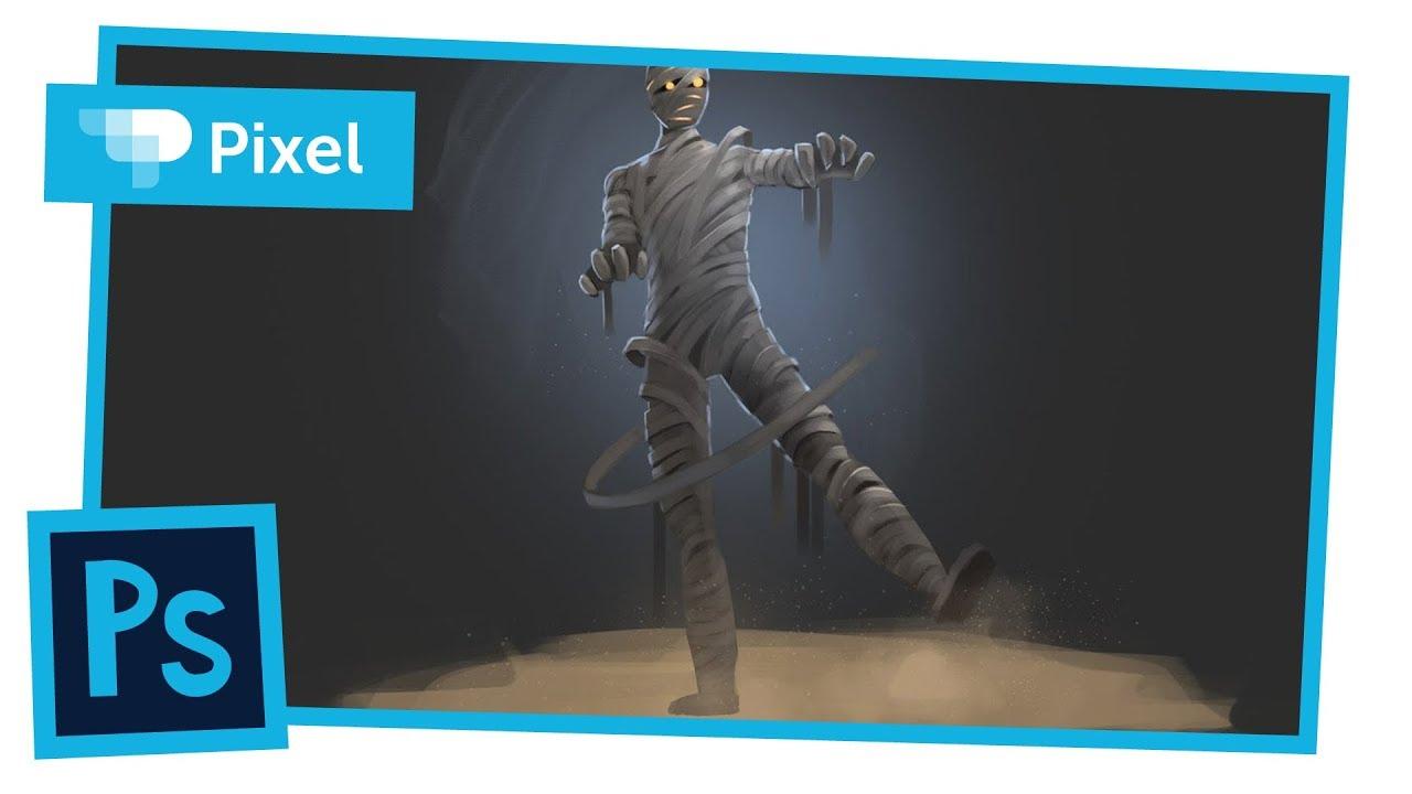 Рисуем добрую мумию в Adobe Photoshop