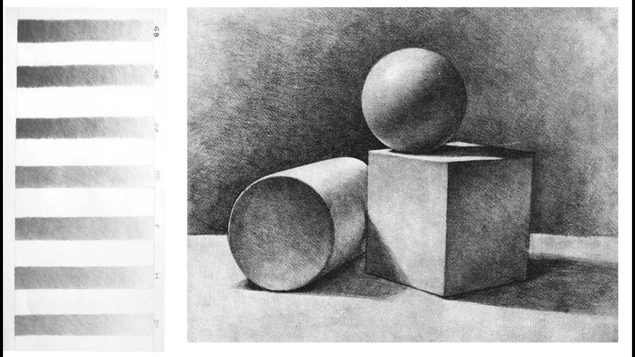 Основы СВЕТОТЕНИ в Рисунке Карандашом / Учимся РИСОВАТЬ карандашом