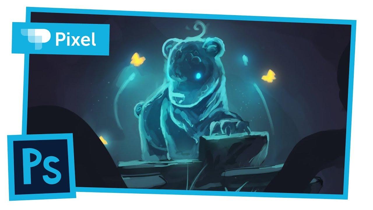Рисуем медвежонка в Adobe Photoshop