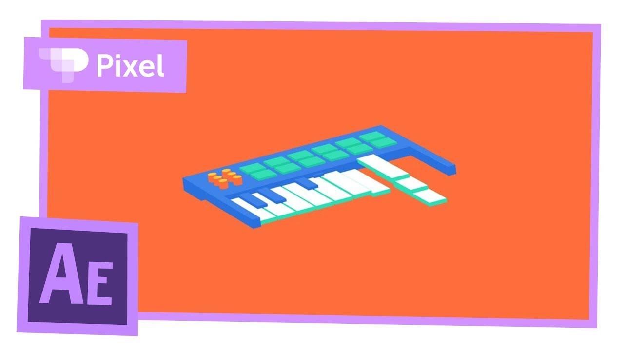 Анимация псевдо-3D midi-клавиатуры в After Effects