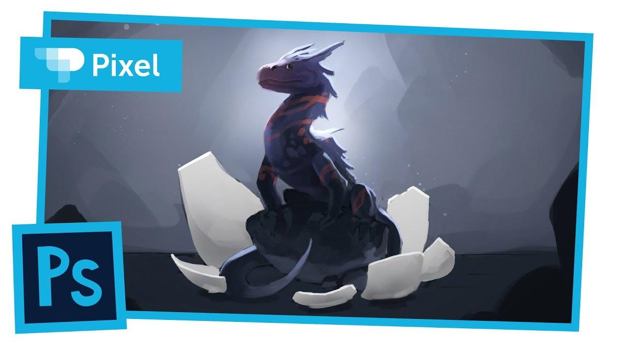 Рисуем дракона в Adobe Photoshop | уроки для начинающих