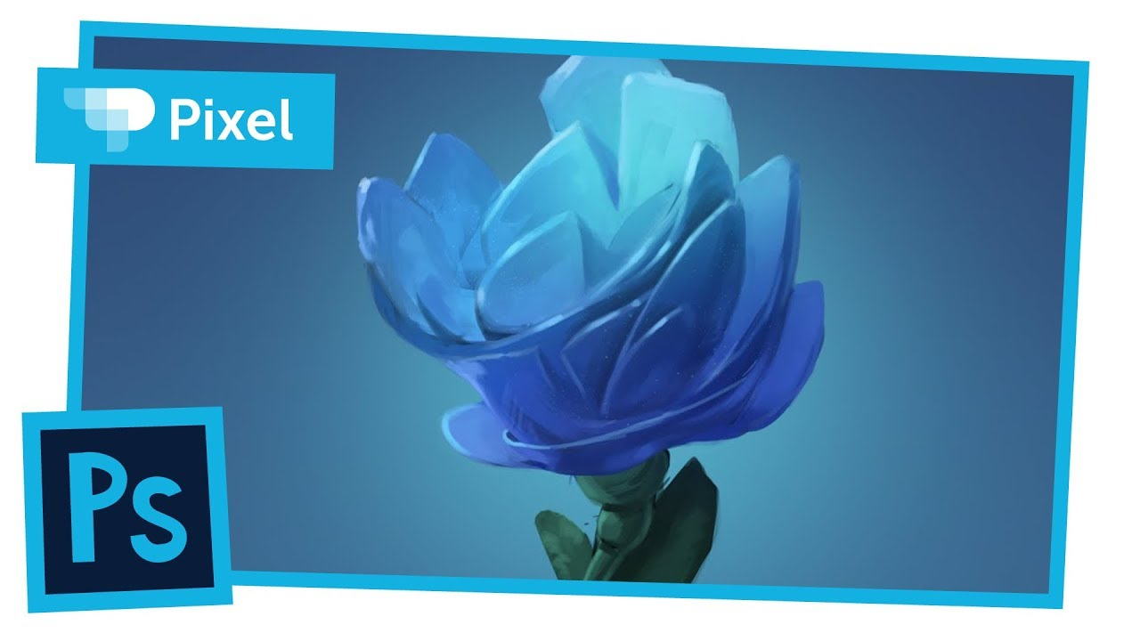 Рисуем цветок в Adobe Photoshop | цифровое рисование | работа на графическом планшете