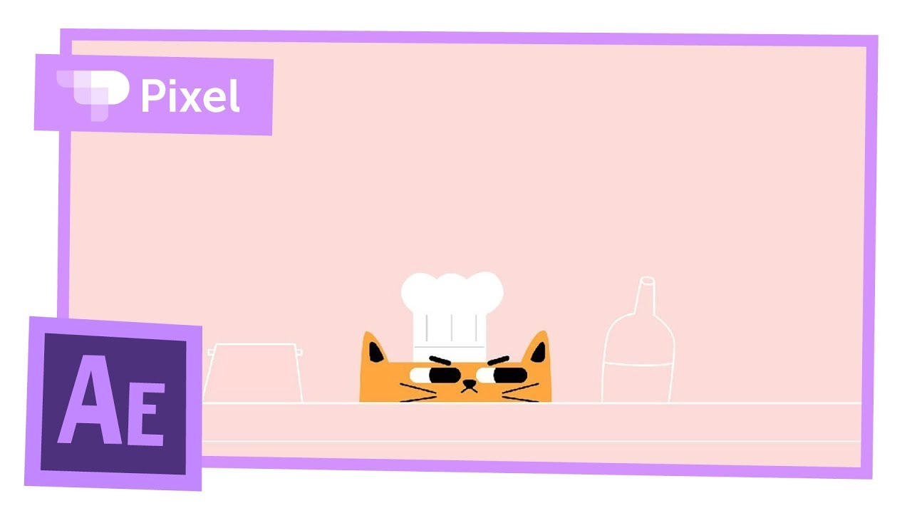 Анимация кота-повара в After Effects