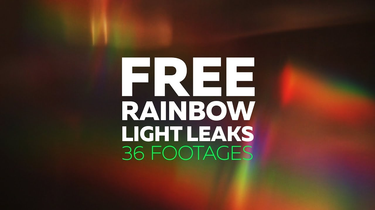 Rainbow Light Leaks - FREE Footages Pack