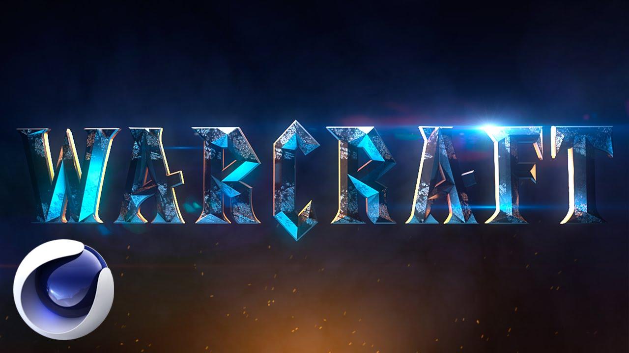 Заставка WarCraft в Cinema 4D