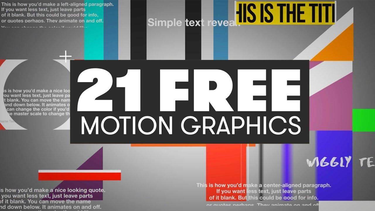 21 FREE Motion Graphics For Premiere | PremiumBeat.com